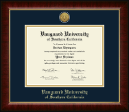 Vanguard University of Southern California Diploma Frame - Gold Engraved Medallion Diploma Frame in Murano
