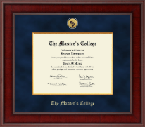 The Master's College Diploma Frame - Presidential Gold Engraved Diploma Frame in Jefferson