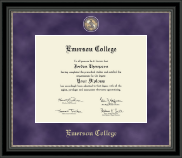 Emerson College Diploma Frame - Regal Edition Diploma Frame in Noir