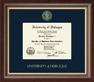 University of Dubuque Diploma Frame - Gold Embossed Diploma Frame in Hampshire