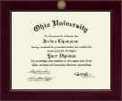 Ohio University Diploma Frame - Century Gold Engraved Diploma Frame in Cordova
