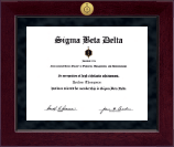 Sigma Beta Delta Diploma Frame - Millennium Gold Engraved Certificate Frame in Cordova