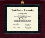 East Central University Diploma Frame - Millennium Gold Engraved Diploma Frame in Cordova