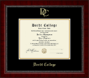 Dordt College Diploma Frame - Gold Embossed Diploma Frame in Sutton