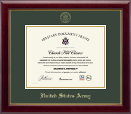 United States Army Certificate Frame - Gold Embossed Certificate Frame in Gallery