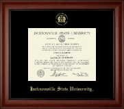 Jacksonville State University Diploma Frame - Pre-Dec 2015- Gold Embossed Diploma Frame in Cambridge