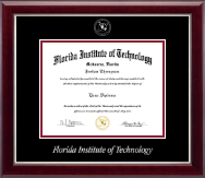 Florida Institute of Technology Diploma Frame - Silver Embossed Diploma Frame in Gallery Silver