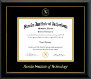 Florida Institute of Technology Diploma Frame - Gold Embossed Diploma Frame in Onyx Gold