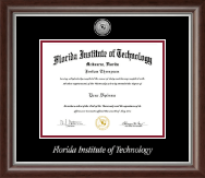 Florida Institute of Technology Diploma Frame - Silver Engraved Medallion Diploma Frame in Devonshire