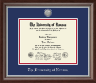 The University of Kansas Diploma Frame - Pewter Masterpiece Medallion Diploma Frame in Devonshire