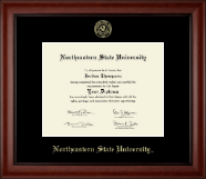 Northeastern State University Tahlequah Diploma Frame - Gold Embossed Diploma Frame in Cambridge