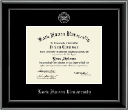 Lock Haven University Diploma Frame - Silver Embossed Diploma Frame in Onyx Silver