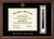 Lock Haven University Diploma Frame - Tassel Edition Diploma Frame in Newport