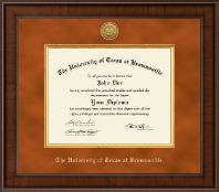University of Texas at Brownsville Diploma Frame - Presidential Gold Engraved Diploma Frame in Madison