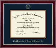 University of Texas at Brownsville Diploma Frame - Gold Embossed Diploma Frame in Gallery