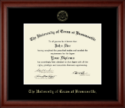 University of Texas at Brownsville Diploma Frame - Gold Embossed Diploma Frame in Cambridge