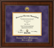 University of Wisconsin Stevens Point Diploma Frame - Presidential Gold Engraved Diploma Frame in Madison