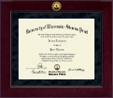 University of Wisconsin Stevens Point Diploma Frame - Millennium Gold Engraved Diploma Frame in Cordova
