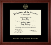 University of the Sciences in Philadelphia Diploma Frame - Gold Embossed Diploma Frame in Cambridge