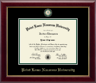 Point Loma Nazarene University Diploma Frame - Masterpiece Medallion Diploma Frame in Gallery