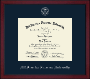 MidAmerica Nazarene University Diploma Frame - Silver Embossed Achievement Edition Diploma Frame in Academy