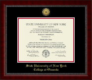State University of New York - College at Oneonta Diploma Frame - Gold Engraved Medallion Diploma Frame in Sutton