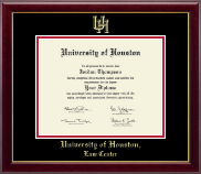 University of Houston Diploma Frame - Gold Embossed Diploma Frame in Gallery