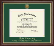 Ohio University Diploma Frame - Gold Engraved Medallion Diploma Frame in Hampshire