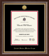 United States Marine Corps Diploma Frame - Gold Engraved Medallion Certificate Frame in Hampshire