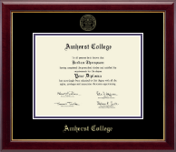 Amherst College Diploma Frame - Gold Embossed Diploma Frame in Gallery