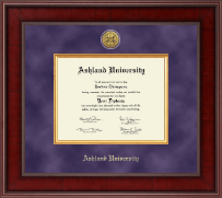 Ashland University Diploma Frame - Presidential Gold Engraved Diploma Frame in Jefferson