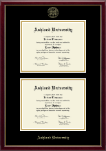 Ashland University Diploma Frame - Double Diploma Frame in Galleria