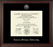 Eastern Michigan University Diploma Frame - Silver Embossed Diploma Frame in Studio