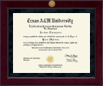 Texas A&M University Diploma Frame - Millennium Gold Engraved Diploma Frame in Cordova