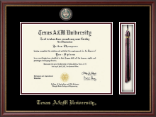 Texas A&M University Diploma Frame - Tassel Masterpiece Medallion Edition Diploma Frame in Newport