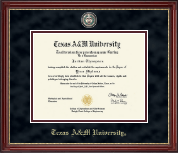 Texas A&M University Diploma Frame - Masterpiece Medallion Diploma Frame in Kensington Gold