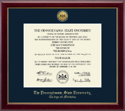 Pennsylvania State University Diploma Frame - Gold Engraved Medallion Diploma Frame in Gallery