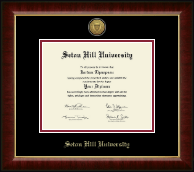 Seton Hill University Diploma Frame - Gold Engraved Medallion Diploma Frame in Murano