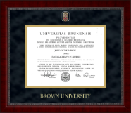 Brown University Diploma Frame - Masterpiece Medallion Diploma Frame in Sutton