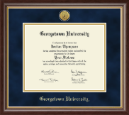 Georgetown University Diploma Frame - Gold Engraved Medallion Diploma Frame in Hampshire