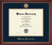 Widener University Diploma Frame - Gold Engraved Medallion Diploma Frame in Kensington Gold