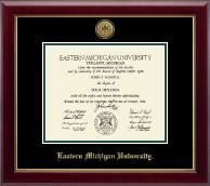 Eastern Michigan University Diploma Frame - Gold Engraved Medallion Diploma Frame in Gallery