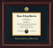 Thomas Jefferson University Diploma Frame - Presidential Gold Engraved Seal Diploma Frame in Premier