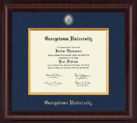 Georgetown University Diploma Frame - Presidential Brass Masterpiece Diploma Frame in Premier