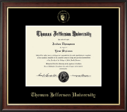 Thomas Jefferson University Diploma Frame - Gold Embossed Seal Diploma Frame in Studio Gold