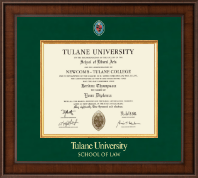 Tulane University Diploma Frame - Presidential Masterpiece Diploma Frame in Madison