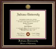 Indiana University - Purdue University at Indianapolis Diploma Frame - Gold Engraved Medallion Diploma Frame in Hampshire