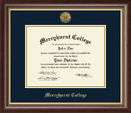 Mercyhurst College North East Diploma Frame - Gold Engraved Medallion Diploma Frame in Hampshire