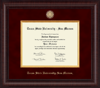 Texas State University San Marcos Diploma Frame - Presidential Masterpiece Diploma Frame in Premier