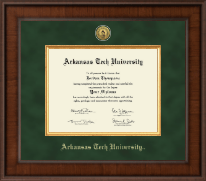 Arkansas Tech University Diploma Frame - Presidential Gold Engraved Diploma Frame in Madison